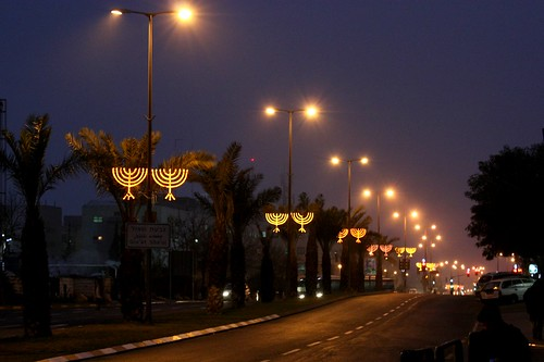 Hanukkah Street Lights