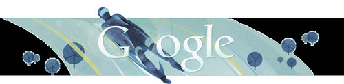 Google Olympics Luge Logo