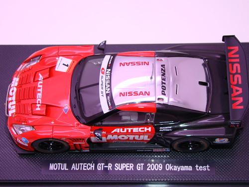 EBBRO MOTUL AUTECH GT-R SUPER GT 2009 OKAYAMA TEST (9)