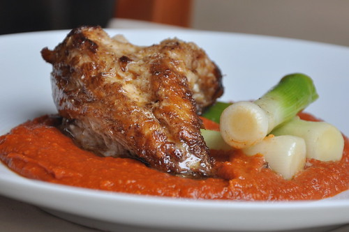 Roasted Monkfish with Romesco Sauce