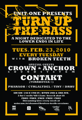 Contakt at Turn Up The Bass Broken Teeth TURRBOTAX