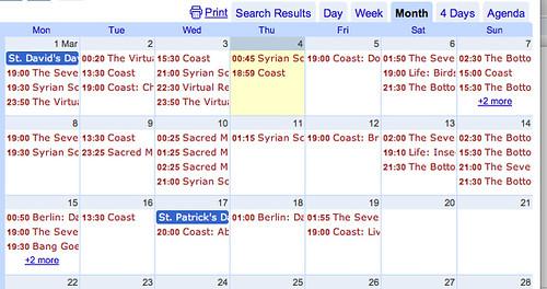 Updating Google Calendars from a Google Spreadsheet