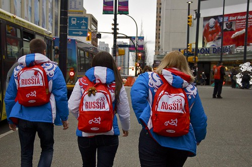 Team Russia on the streets