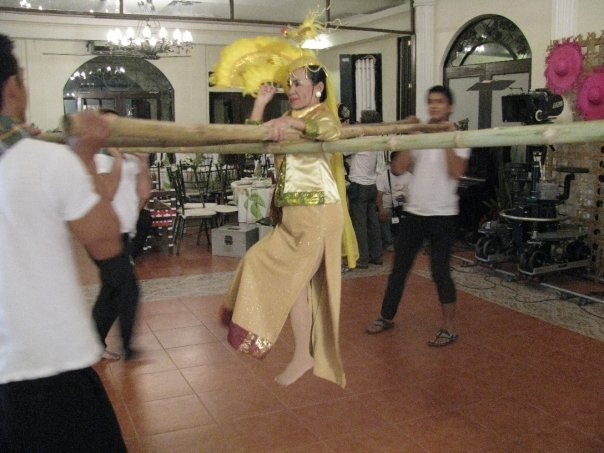 Donya Dionisia Pacquiao performing the Singkil/Tinikling at the wedding reception for Sam & Toi at Paseo del Sol.