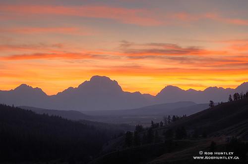 Grand Tetons sunset.