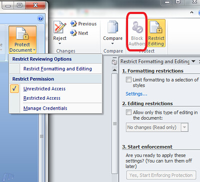 Office 2010 Author permissions