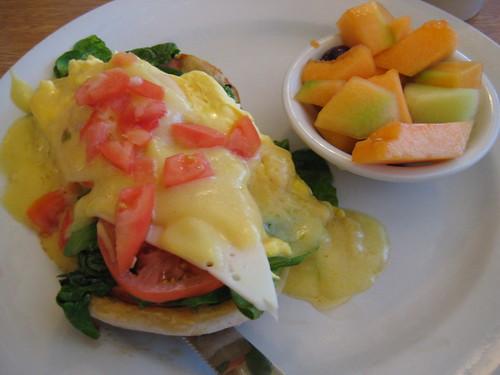 Perkins florentine eggs benedict