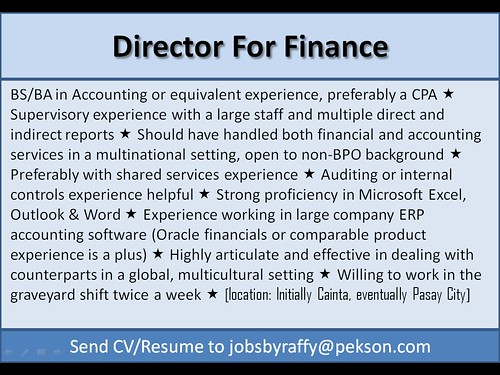 Director for Finance