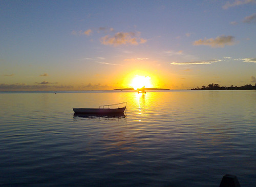 Sunrise over Ile aux Aigrettes, Mahebourg, Mau...