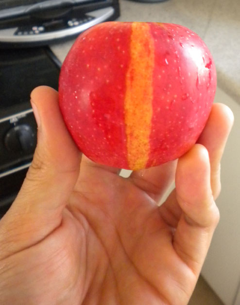 My Apple has a stripe