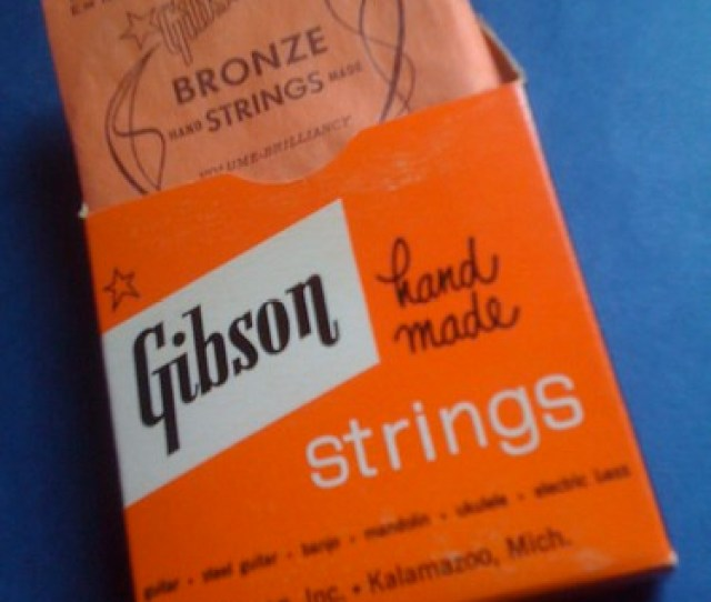 Antique Box Of Gibson Guitar Strings