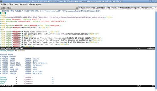 Exportar a html en vim