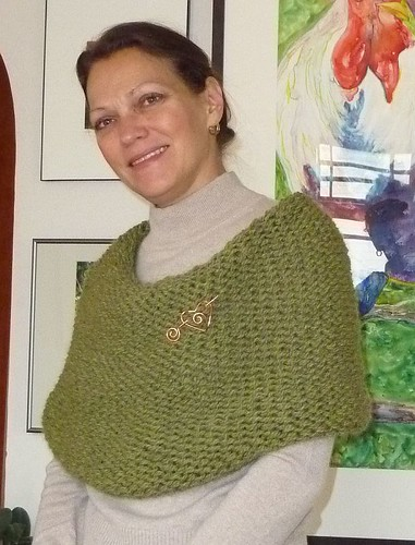 Green Eco Wool Cowl