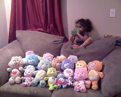 """When I told her to get off the back of my sofa she said, """"But my Care Bears are in the way!"""""""