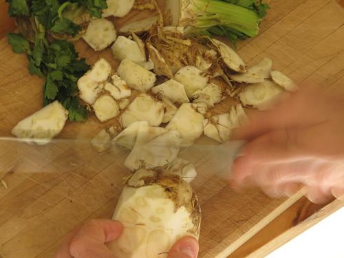 Prepping Celeriac