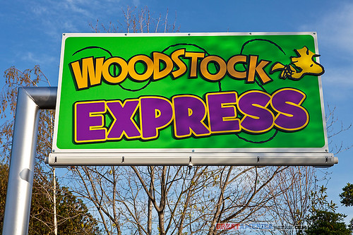 Woodstock Express sign