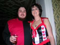 the evil jester and queen of hearts