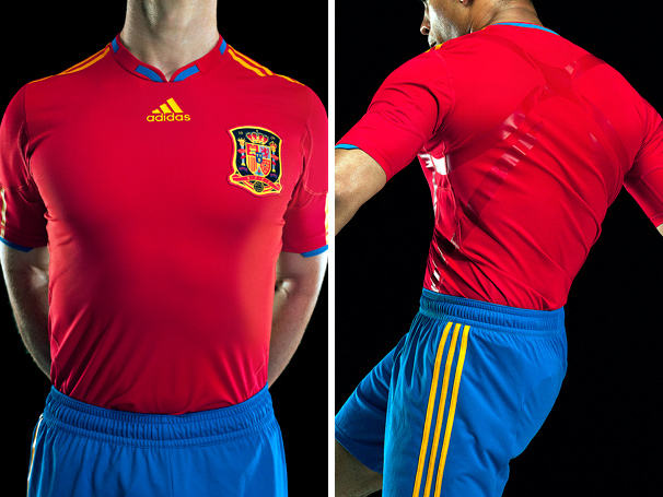30985ce2d80 Spain adidas World Cup 2010 TECHFIT Home Kit   Jersey   Camiseta ...