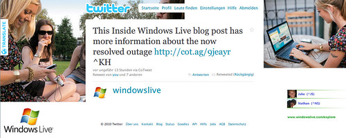 Windows Live ID outage: Explained on Twitter