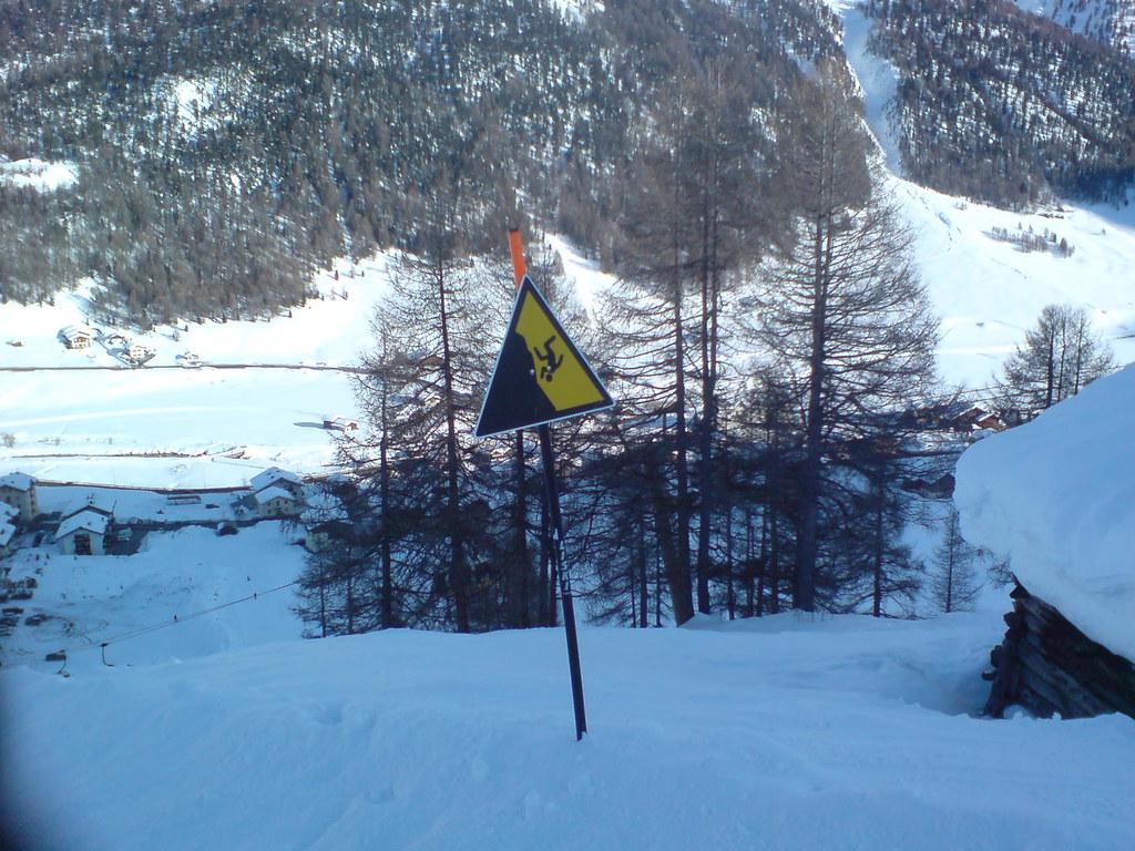 Beware of upside down skiers
