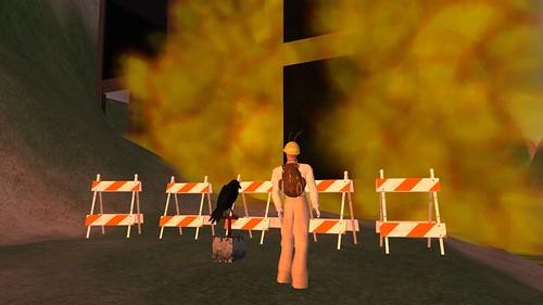 Demolishing the old Noyo Mall for Sal