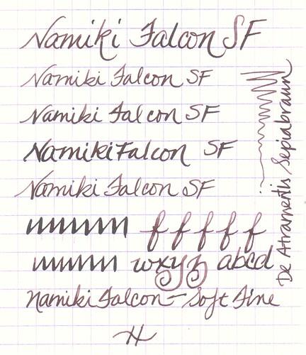 Namiki Falcon + De Atramentis Sepiabraun