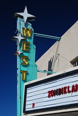 The West movie theater in Prewitt, New Mexico