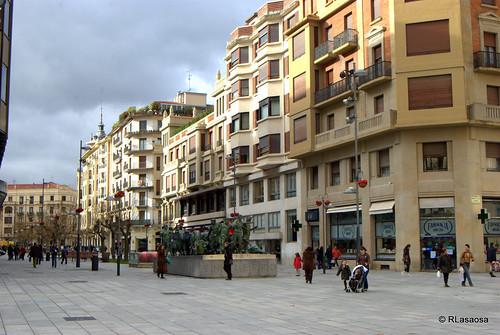 Vista panorámica de una parte del la Avenida de Roncesvalles