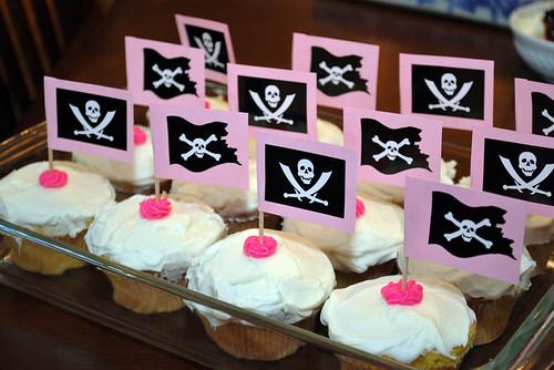 Pirate Princess Party Cupcakes