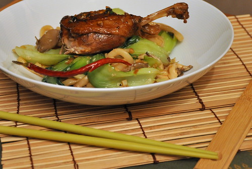 Crispy Duck with Udon Noodles