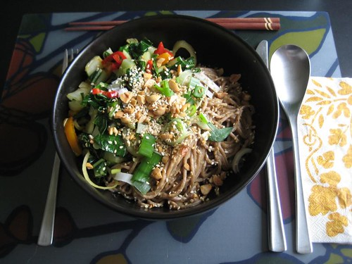 Szechuan noodles from Vegan Family Meals