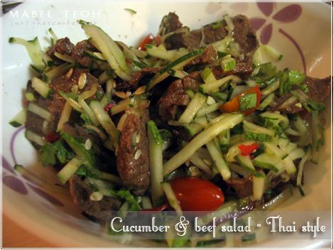 Cucumber & beef salad - Thai style