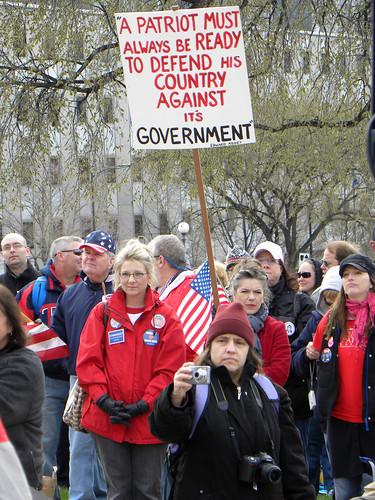 Tea Party Express at the Minnesota capitol
