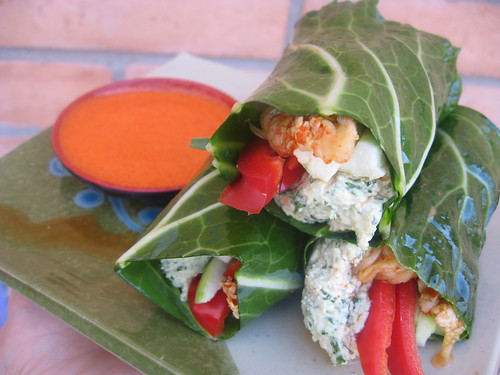 Cilantro Cilantro Collard Rolls with Pineapple Goji Dipping Sauce