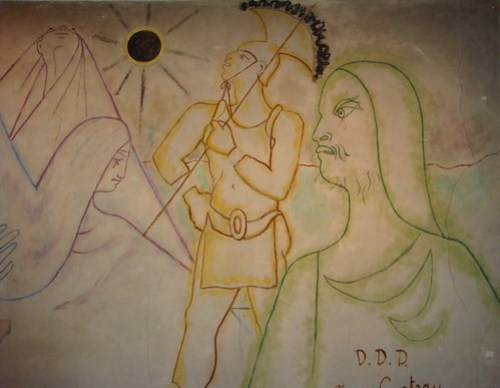 Detail of the Cocteau mural, The Church of Notre Dame de France, off Leicester Square, London by TheAltruist.