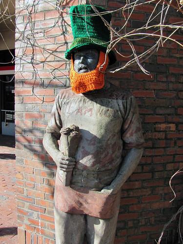 St. Patrick's Day Yarnbomb