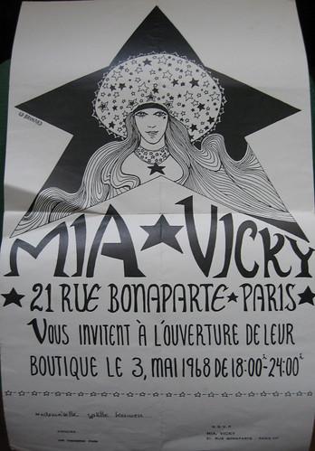 Invitation Mia et Vicky, 3 mai 1968