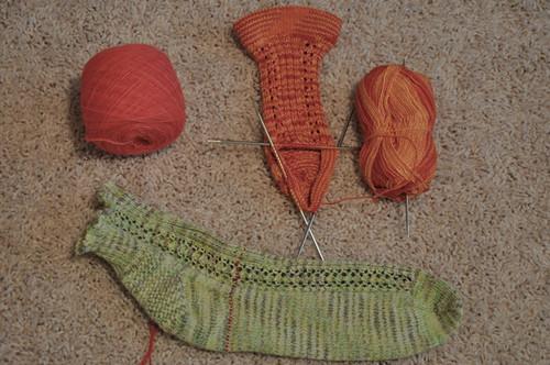 Summer Socks in progress.