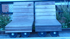 Rolling stock seats