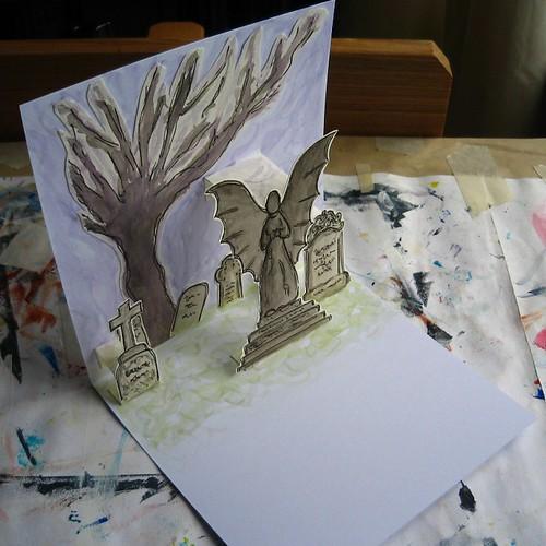 graveyard popup - side view
