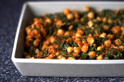 spinach and chickpeas, espinacas con garbanzos