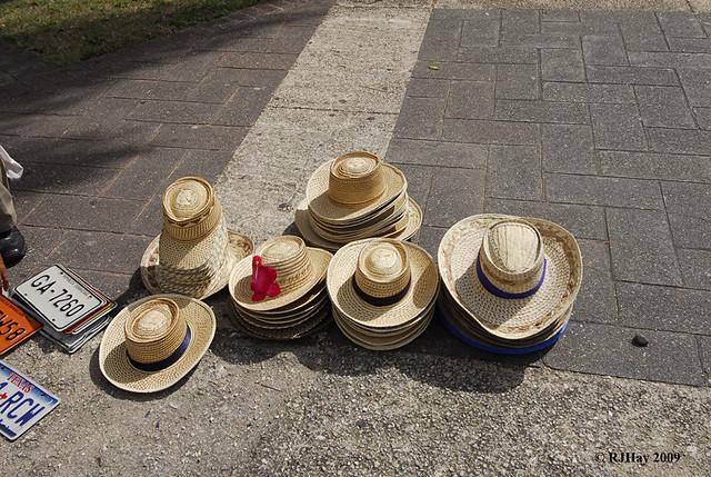 Straw Hat Vendor - Alcazar de Colon (Palacio de Diego Colon), Santo Domingo, Dominican Republic