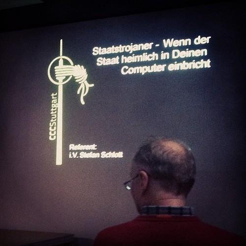"""""""Staatstrojaner - Wenn der Staat heimlich in Deinen Computer einbricht"""" #cccs #ccc #Stuttgart"""