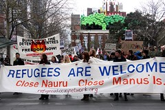Refugees are welcome main banner - Refugee Act...