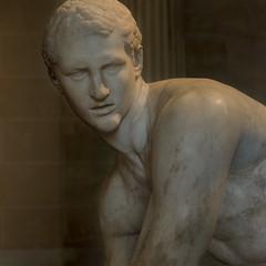 Hermes tying his sandal (egisto.sani) Tags: sculpture paris art greek arte roman louvre du marble hermes parigi greca scultura marmo ermes greekmyths lysippus muse louvre lisippo mitigreci