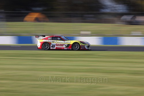 Carl Boardley in the Ginetta GT4 Supercup during the BTCC Weekend at Donington Park 2017: Saturday, 15th April