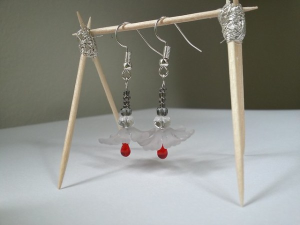 Lightweight Acrylic and Glass Earrings - Not available for sale. Please contact me for special requests.