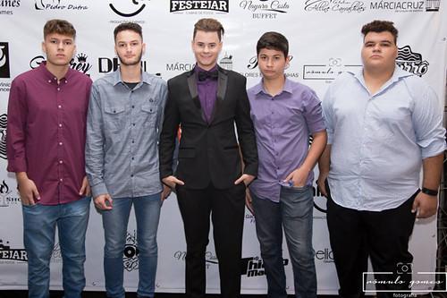 Com Gabriel Lopes, Makálisther Vaz, Luiz Fernando e Neuber Silveira