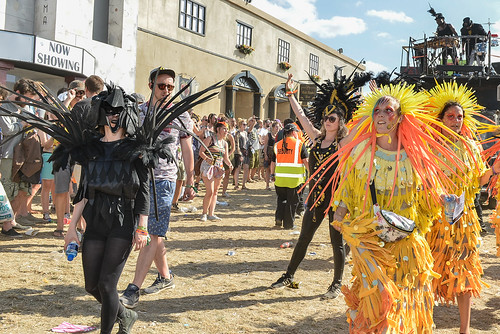Carnival and custard pie fights at Boomtown Fair 2016