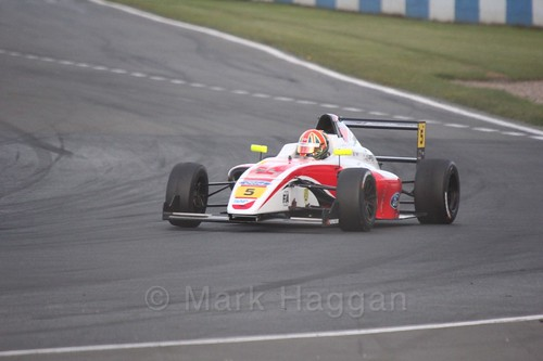 Oliver York in British F4 Race Two during the BTCC Weekend at Donington Park 2017